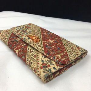 Vintage Bags - Vintage Egypt Hieroglyphics Clutch